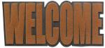 Balvi deurmat Welcome 32,5 x 75 cm rubber/polyester bruin