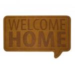 Balvi deurmat Welcome Home 45 x 70 cm polyester/PVC bruin