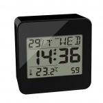 Balvi wekker digitaal 7,2 cm lcd-scherm ABS zwart