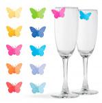 Balvi glasmarkers Drink Wings 3,05 x 2,54 siliconen 10 stuks