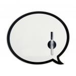 Balvi memobord magnetisch Talking Bubble 33 cm metaal 2-delig
