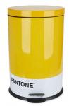 Balvi prullenbak Pantone 20 liter metaal geel/wit 2-delig