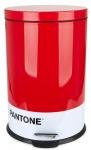 Balvi prullenbak Pantone 20 liter metaal rood/wit 2-delig