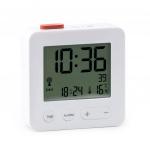 Balvi wekker radiogestuurd LCD 7 cm wit