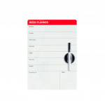 Balvi weekplanner magneetbord 42 x 29 cm wit 3-delig