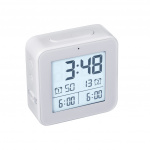 Balvi wekker digitaal 8,2 cm lcd-scherm ABS wit