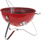 BBQ portable barbecue rond rood staal 37 x 26 cm