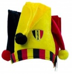 België clownshoed WK Football geel/rood/zwart