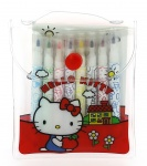 Blueprint Collections kleurset Hello Kitty rood 7 x 9,5 cm 2-delig