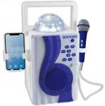 Bontempi karaoke draadloos junior 30 x 40 x 22 cm blauw/zilver