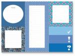 Cedon memoblokset meisjes 18,5 x 13 cm papier/karton blauw/wit