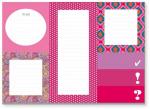 Cedon memoblokset meisjes 18,5 x 13 cm papier/karton roze/wit
