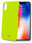 Celly backcover Shock iPhone X/XS 7,2 x 14,4 cm PVC geel