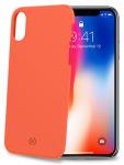 Celly backcover Shock iPhone X/XS 7,2 x 14,4 cm PVC oranje