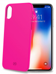 Celly backcover Shock iPhone X/XS 7,2 x 14,4 cm PVC roze