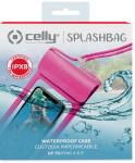 Celly beschermhoes Splashbag 14 x 6 x 1 cm roze