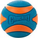 Chuckit speelbal Ultra Squeaker 5 cm rubber blauw/oranje