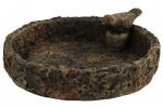 Countryfield vogelbad Terra 20 cm keramiek bruin