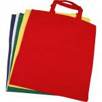 Creative katoenen tas 38 x 42 cm diverse kleuren 5 stuks
