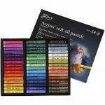 Creotime Gallery oliepastel multicolor 7 cm 48 stuks