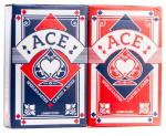 Cartamundi speelkaarten Bridge Ace karton blauw/rood 2 stokken