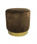 Countryfield poef ro Millville 42,5 cm roest donkerbruin