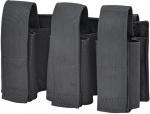 Defcon 5 granaathouder driedubbel 21 x 14 cm polyester zwart