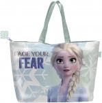 Disney shopper Frozen meisjes 20 liter PVC lichtblauw