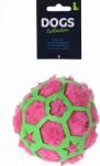 Dogs Collection hondenspeelbal 12 cm pluche roze/groen