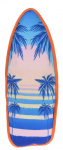Dogs Collection piepspeelgoed surfboard palm 43 cm roze/blauw
