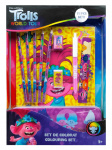 Dreamworks kleurset Trolls: World Tour junior papier 22-delig