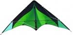 Elliot tweelijnsstuntkite Delta Basic 117 cm groen/zwart