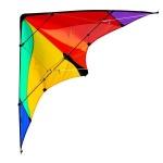 Elliot tweelijnsstuntskite Delta Basic Rainbow 117 cm