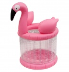 Enjoy Summer Opblaasbare ijshouder 75 cm Flamingo roze