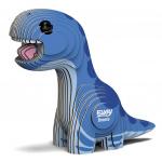 Eugy 3D-puzzel Bronto junior 7,6 x 3,3 cm karton blauw