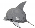 Eugy 3D-puzzel dolfijn 7,5 x 6 cm grijs 25-delig