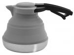 Eurotrail waterketel 1,2 liter opvouwbaar siliconen/RVS grijs
