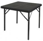 Eurotrail tafel Orly vierkant 77 x 77 x 69 cm staal zwart