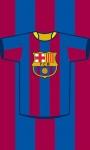 FC Barcelona handdoekje vlag en logo 30 x 50 cm blauw/rood