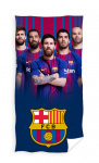 FC Barcelona strandlaken 70 x 140 cm katoen rood/blauw