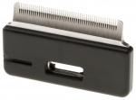 Ferplast dierentrimmer lang haar 6 x 3 cm staal/rubber zwart
