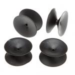 Ferplast dubbele zuignappen Bluwave 3,5 cm rubber zwart 4 stuks