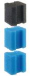 Ferplast filtersponzen Blumodular 8 x 13 cm blauw/zwart 3 stuks