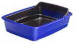 Ferplast kattenbak Ariel 46,5 x 35,5 cm blauw/zwart