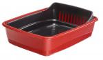 Ferplast kattenbak Ariel 46,5 x 35,5 cm rood/zwart