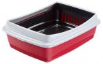 Ferplast kattenbak Ariel 47 x 36 cm rood/zwart