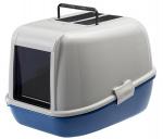 Ferplast kattenbak Magix 45,5 x 55,5 cm blauw/wit