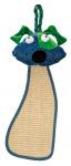 Ferplast krabpaal met hondenhoofd 56 x 20 cm sisal blauw