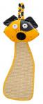 Ferplast krabpaal met hondenhoofd 56 x 20 cm sisal geel