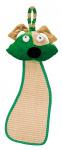 Ferplast krabpaal met hondenhoofd 56 x 20 cm sisal groen